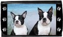 Boston Terrier Duo at Ocean Wallet