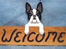 Boston Terrier Ourtdoor Signs, Mailboxes and Garden Stakes