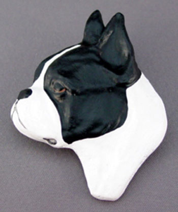 Boston Terrier Dog Head Pin
