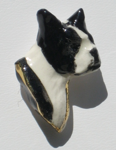 Boston Terrier Head Necklace