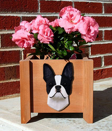 Boston Terrier Planter