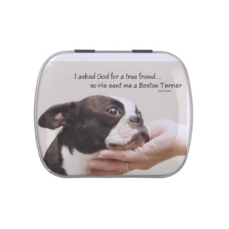 Boston Terrier Tre Friend Candy Tin