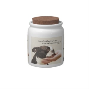 Boston Terrier True Friend Candy Jar
