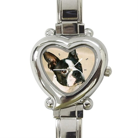 The Boston Look Heart Shaped Italian Charm Watch