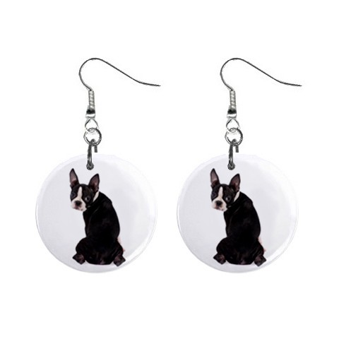 Who Me Boston Terrier Earrings