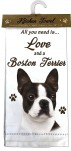 All You Need is Love and a Boston Terrier Towel