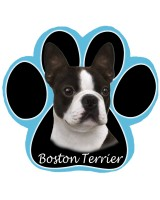 Blue Boston Pawprint Mousepad