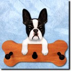 Boston Terrier Bone Hang Up
