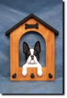 Boston Terrier Dog House Leash Holder