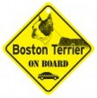 Boston Terrier On Board Sign