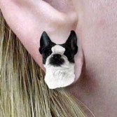 Boston Terrier Post Earrings