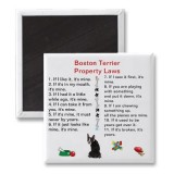 Boston Terrier Property Laws Magnets