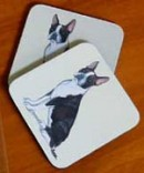 Boston Terrier Sitting Coasters