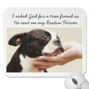 Boston Terrier True Friend Mousepad