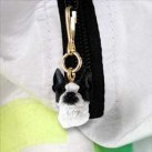 Boston Terrier Zipper Charm