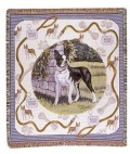 Boston Terrier in Yard Tapestry