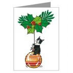 Boston Terrier on Ornament Card