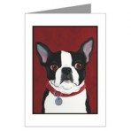 Boston on Red Greeting Cards