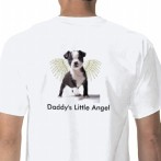 Daddys Little Boston Puppy Angel T Shirt Back