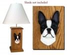 Handmade Boston Terrier Lamp