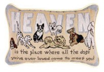 Heaven Is The Place Tapestry Pillow